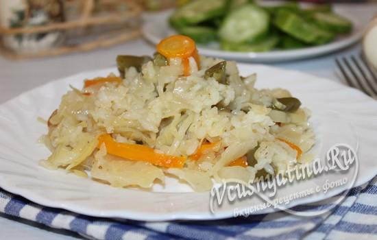 рис с овощами готов