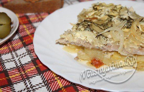 Рецепт свинина с помидорами и картошкой в духовке рецепт