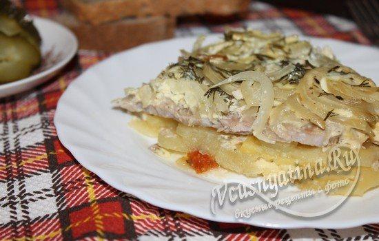Свинина, запеченная в духовке с картошкой