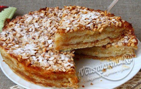 Варшавский яблочный пирог с арахисом