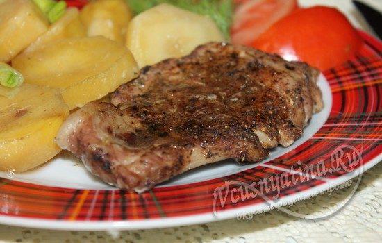 Мясо с картофелем в духовке порционно