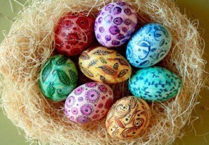 Идеи окрашивания яиц к Пасхе