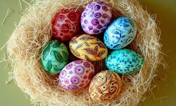 Лучшие идеи окрашивания яиц к Пасхе