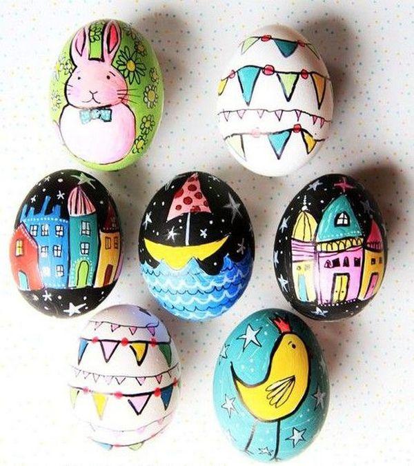Как красиво покрасить и украсить яйца на Пасху в 2021 году