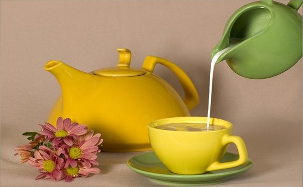 чай и молоко