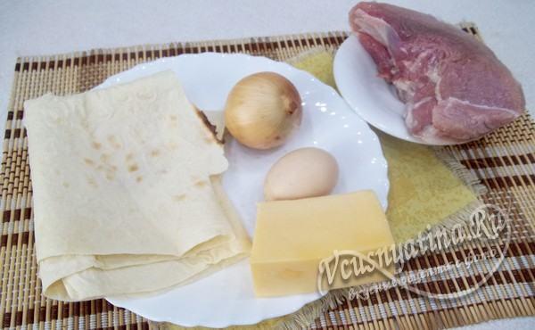 ингредиенты для пирога из лаваша