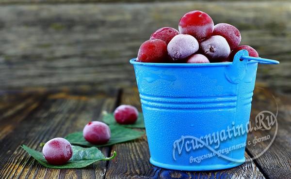 Замороженная вишня без косточек на зиму