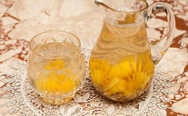 компот из груш с апельсином и медом