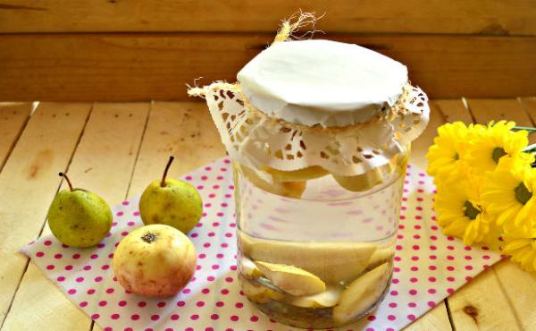 компот из груш с яблоками