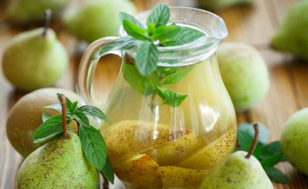 компот из груш с мятой