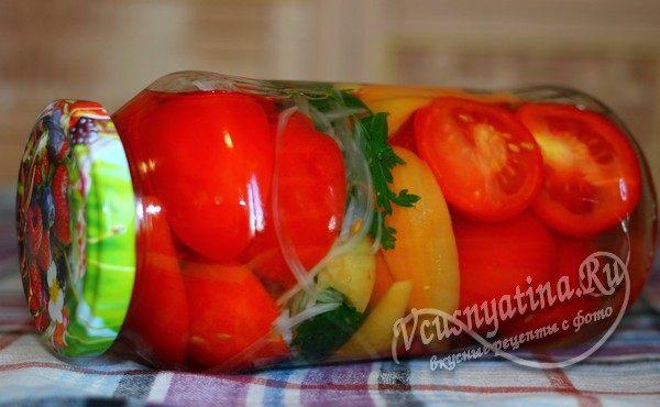 помидоры с перцем на зиму