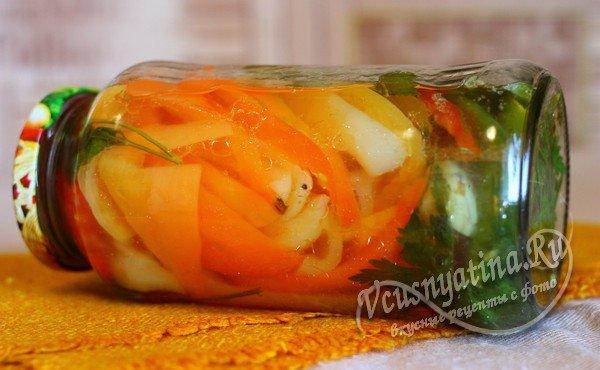 перец маринованный с помидорами на зиму