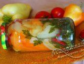 Маринованный сладкий перец с помидорами