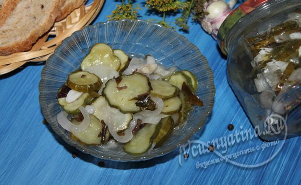 консервированный салат из огурцов на зиму