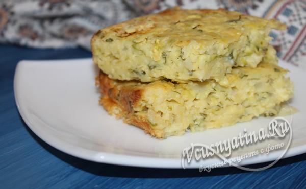 готовая запеканка из кабачков с сыром