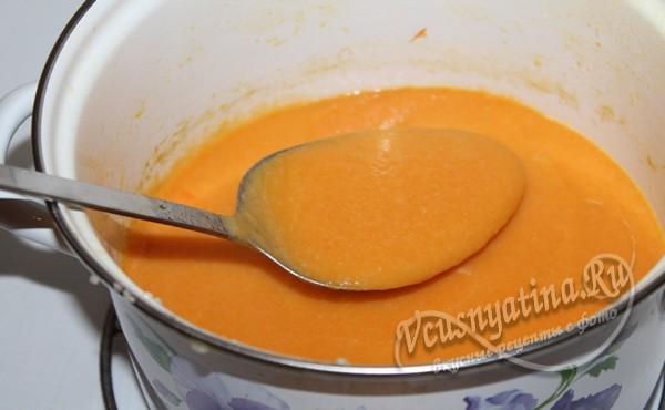 прогреть морковный суп пюре