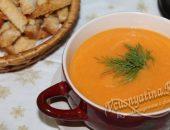 морковный суп пюре с рисом