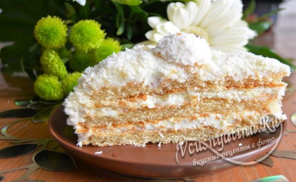 порция торта рафаэлло