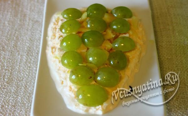 слой свежего винограда