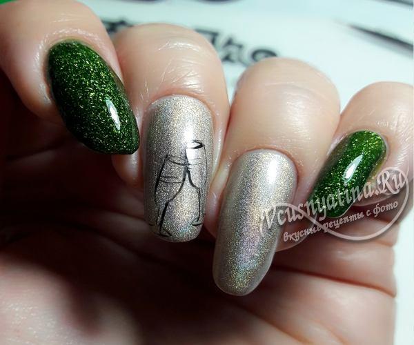 бокалы на ногтях