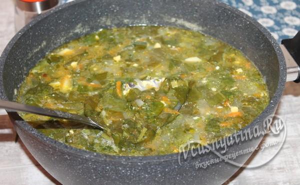 добавить щавель в суп