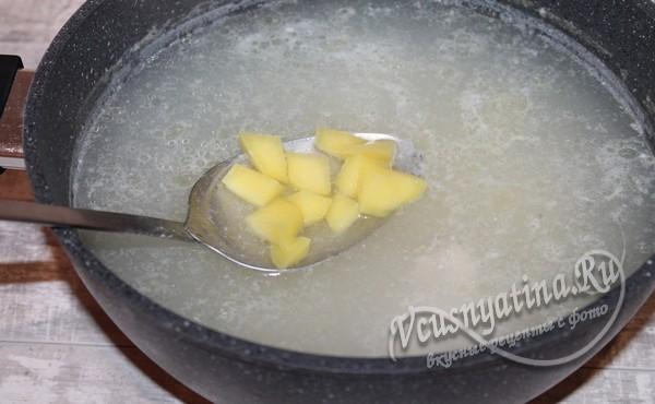 добавить картофель в суп