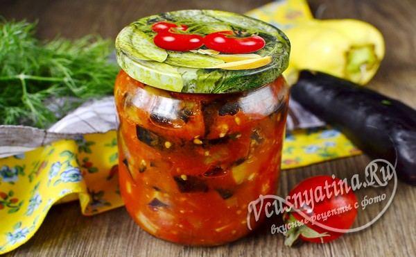 баклажаны в томатной заливке готовы