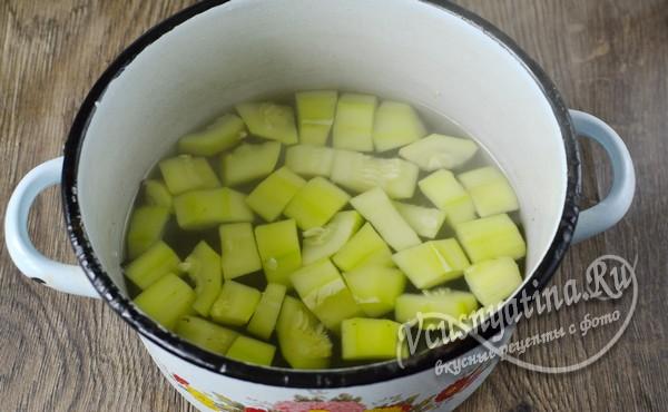 провариваем и добавляем яблочный уксус
