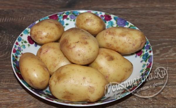 картофель промыть и обсушить