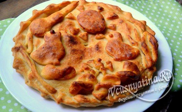 пирог с молодой капустой готов