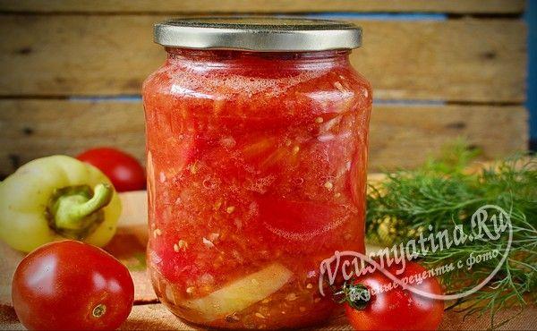 резаные томаты в собственном соку готовы