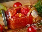 резаные помидоры в собственном соку