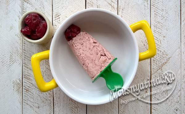 шоколадное мороженое готово