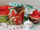 соленые арбузы с чесноком