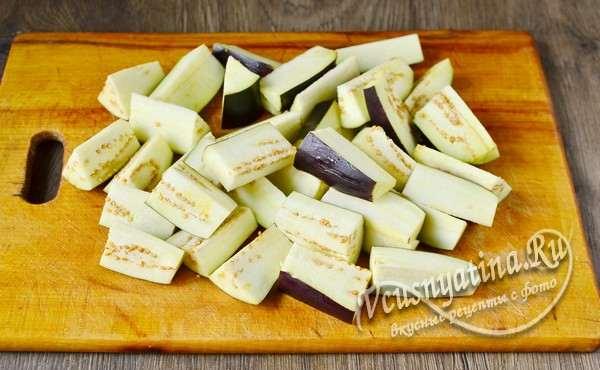 овощи помыть и нарезать крупным кусочками