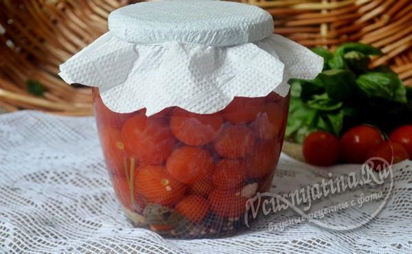 помидорки черри на зиму