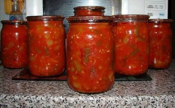 спаржа с томатом