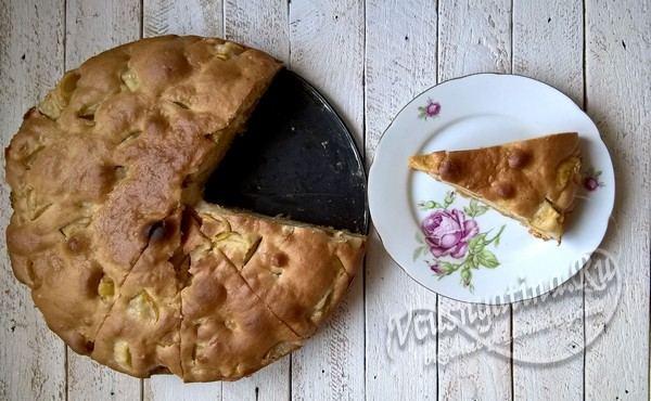 пирог с грушами и медом