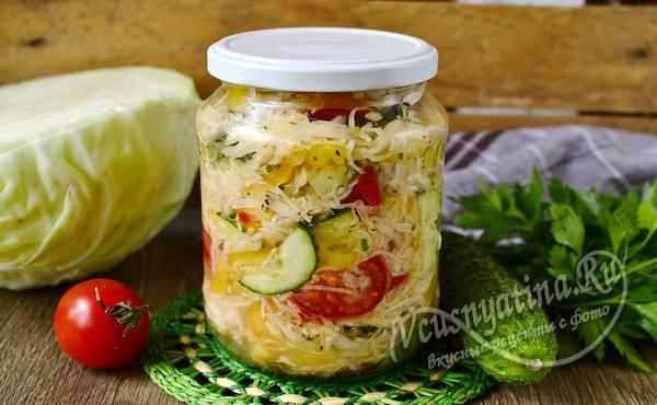 Салат по-кубански на зиму