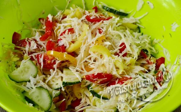 перемешанные овощи