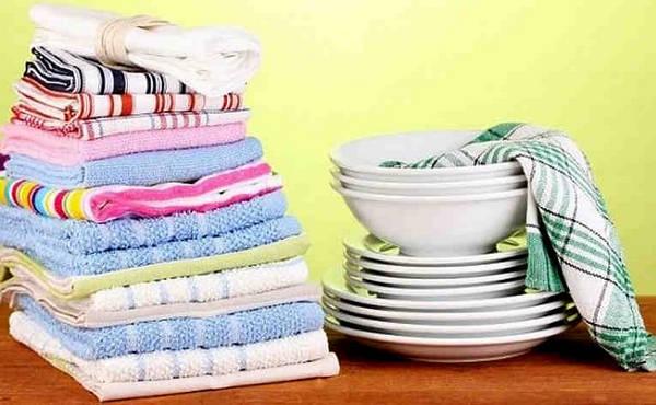 Очищаем кухонные полотенца от Пятен