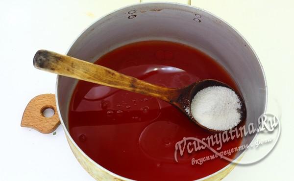 подготовить томатный сок для лечо