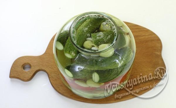 Маринованное ассорти из овощей на зиму, рецепт на 3 литровую банку