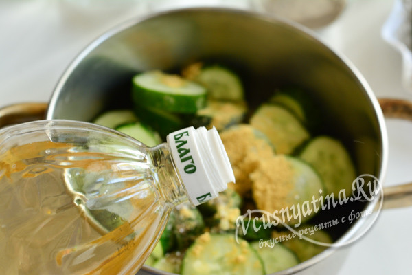 добавьте растительное масло