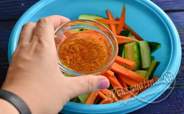 добавить в маринад уксус и растительное масло