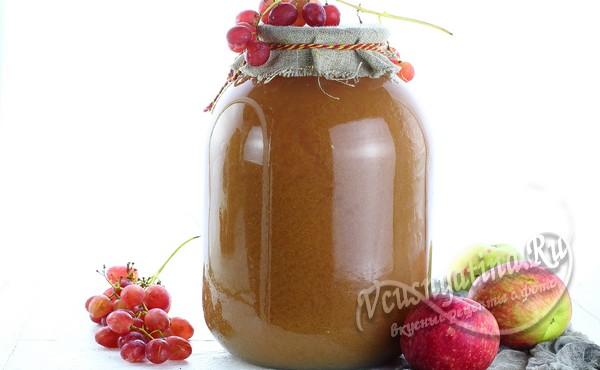 Яблочно-виноградный сок на зиму через соковыжималку