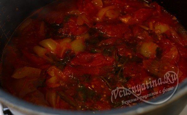 готовые овощи остудить