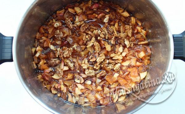 добавление орехов к варенью
