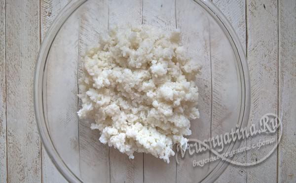 отварить рис до полной готовности