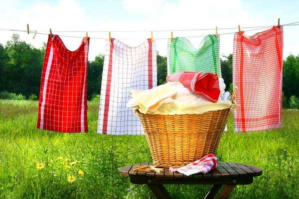 12 способов стирки и отбеливания кухонных полотенец без кипячения
